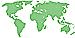 Silhouette Weltkarte