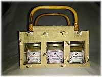 Wiederverwendbares Geschenk-Täschchen inklusive 3 Gläser Honig