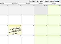 Abolieferung Kalendereintrag