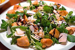 Salat mit Honigessig