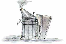 Der Smoker, ein typisches Imkerwerkzeug